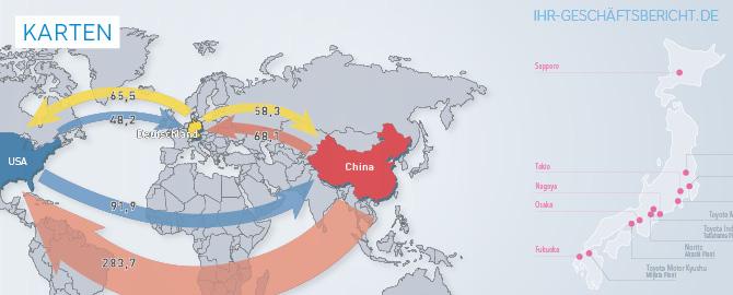 Infografik mit Karten