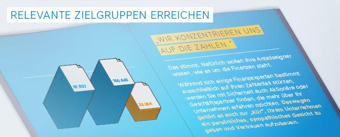 Gestaltung, Design, Layout, Erstellung und Entwicklung von Jahresberichten, Geschäftsberichten und Annual Reports in Köln – mit genauer Zielgruppenanalyse