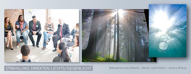 Beispiel für Bilder mit Starken Strahlung und Gegenlicht