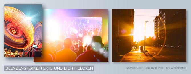 Beispiel für Bilder mit Blendensterneffekt und Lichtflecken