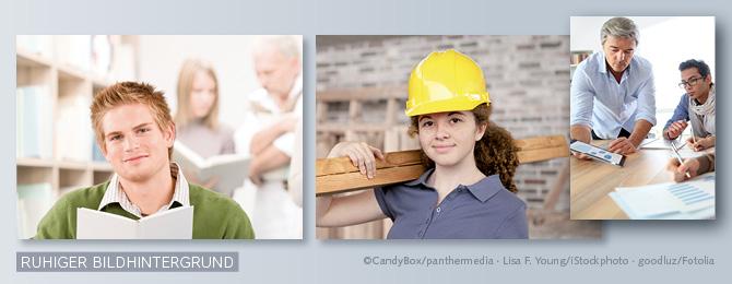 Beispiele für ruhige und leicht unscharfe Bildhintergründe, die in einem deutlichen Kontrast zum Bildmotiv stehen.