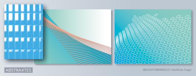 Beispiele als Bildalternative wie ungegenständliche, abstrakte Motive, Gestaltungselemente und Kunstwerke