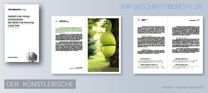 Kunstwerke, die in Geschäftsberichten und Jahresberichten abgebildet werden