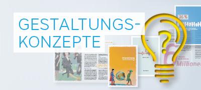 Gestaltungskonzepte für Jahres- und Geschäftsberichte