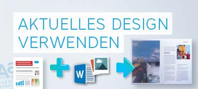 Geschäftsbericht nach bisherigem Designkonzept mit Ihren Texten und Bildern erstellen.