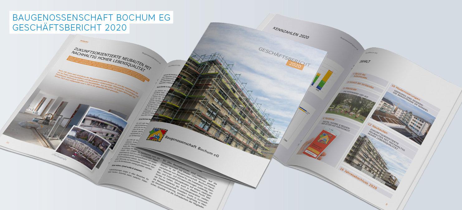 Geschäftsbericht der Baugenossenschaft Bochum eG 2020